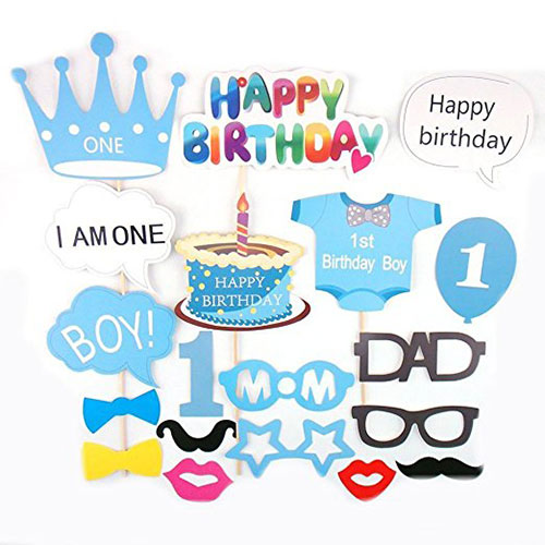 1st Birthday Party Photo Booth Props