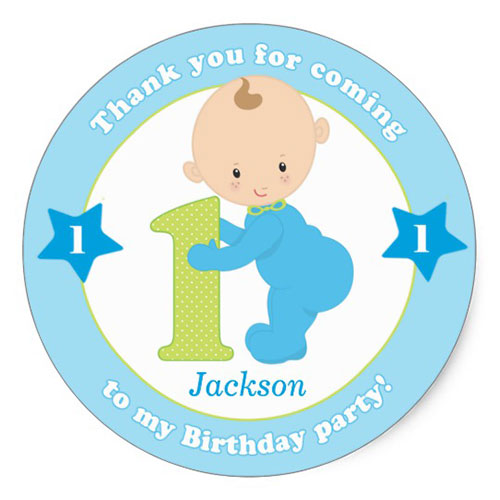 1st Birthday Stickers