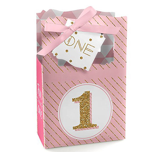 Fun To Be One 1st Birthday Party Favor Boxes