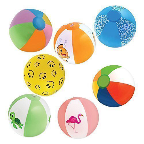 Inflatable Rainbow Beach Balls Favors