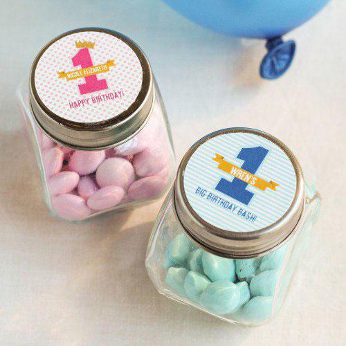 Personalized Milestone Birthday Candy Jars