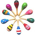 Wooden Maraca Wood Rattles Musical Party Favor