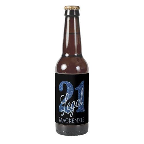 21 Legal Party Beer Bottle Label