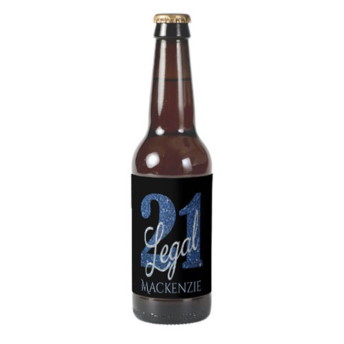 21 Legal Party Beer Bottle Label