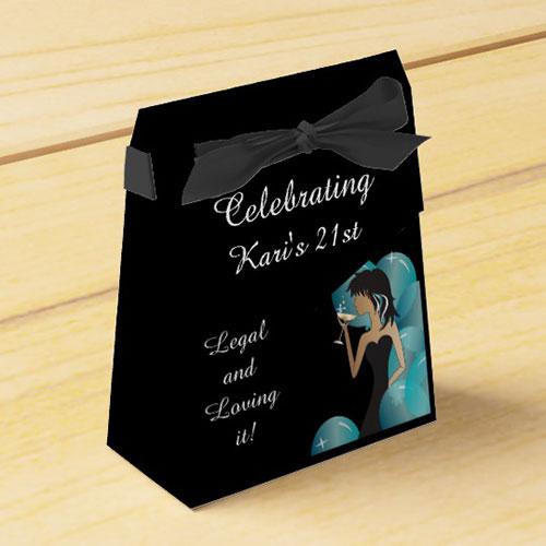 21st Birthday Diva Girl Favor Box