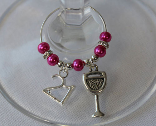 21st Party Wine Glass Charms
