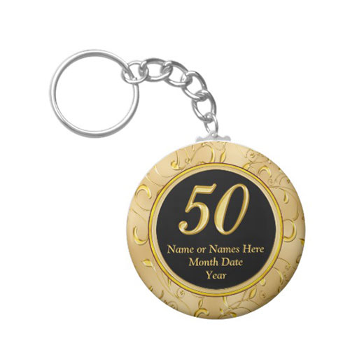50th Birthday Party Keychain Favors