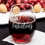 50th Birthday Stemless Wine Glass