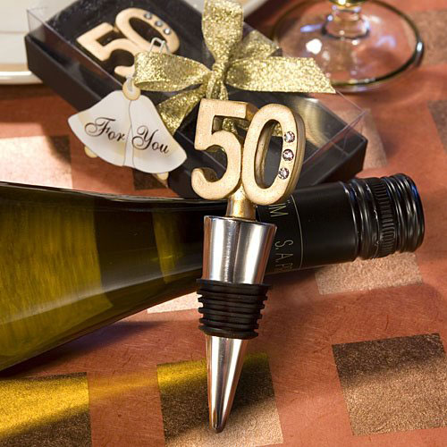 50th Birthday Wine Bottle Stopper