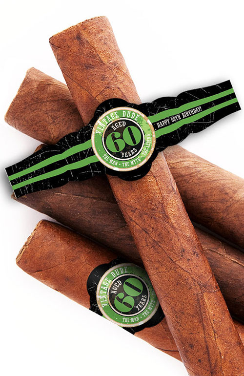60th Birthday Custom Cigar Bands