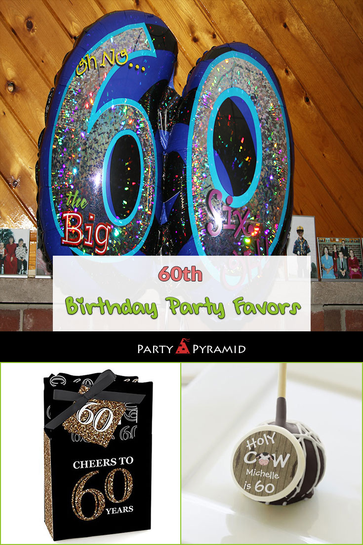 60th Birthday Party Favors Large