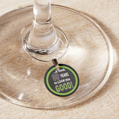 60th Birthday Wine Glass Charm It Took 60 Years To Look This Good