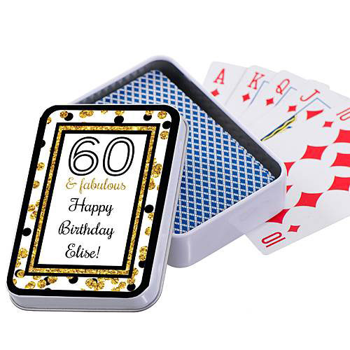 Cheers To You 60th Birthday Personalized Playing Card Case