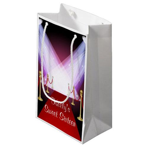 Hollywood Red Carpet Sweet 16 Favor Bag