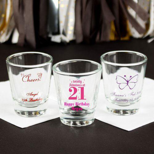 Personalized Birthday Shot Glasses