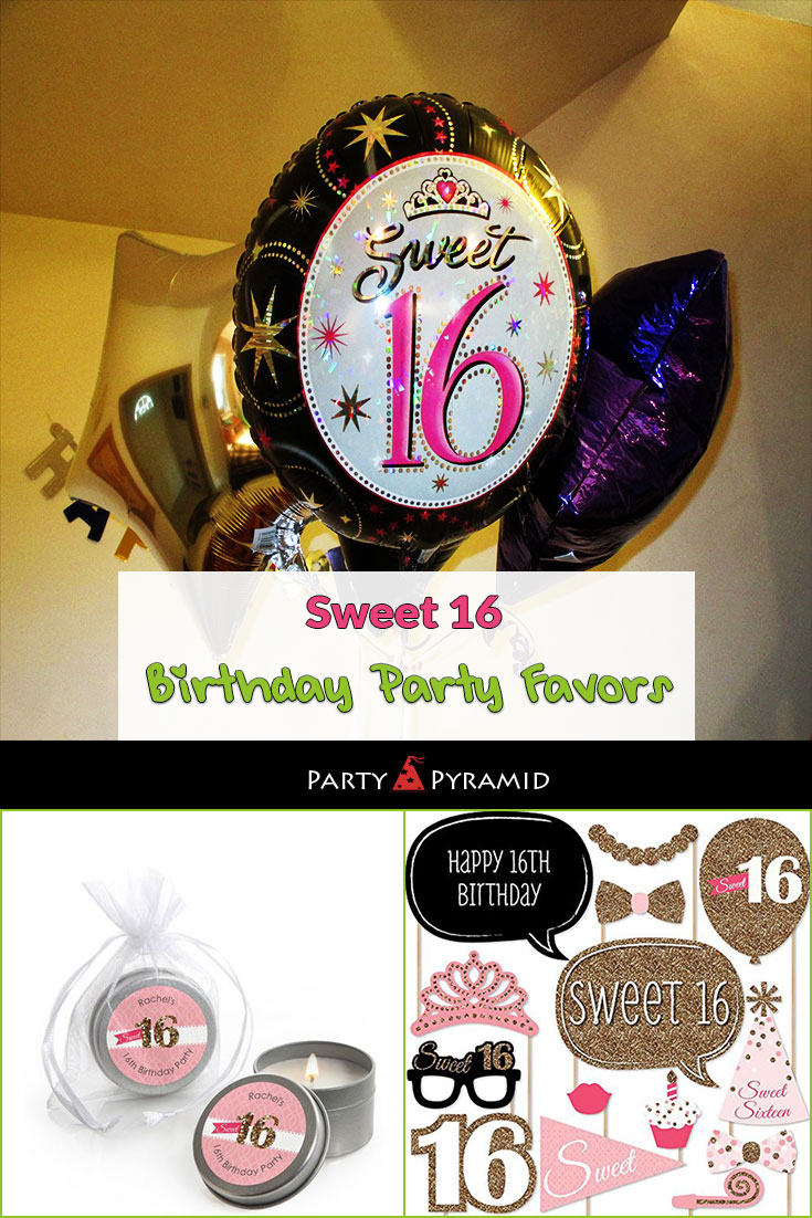 Sweet 16 Birthday Party Favors Large