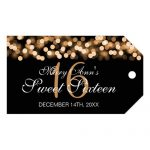 Sweet 16 Birthday Party Hollywood Glam Gold Gift Tags