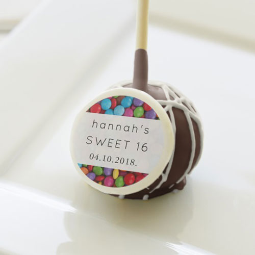 Sweet 16 Button Shaped Candy Cake Pops
